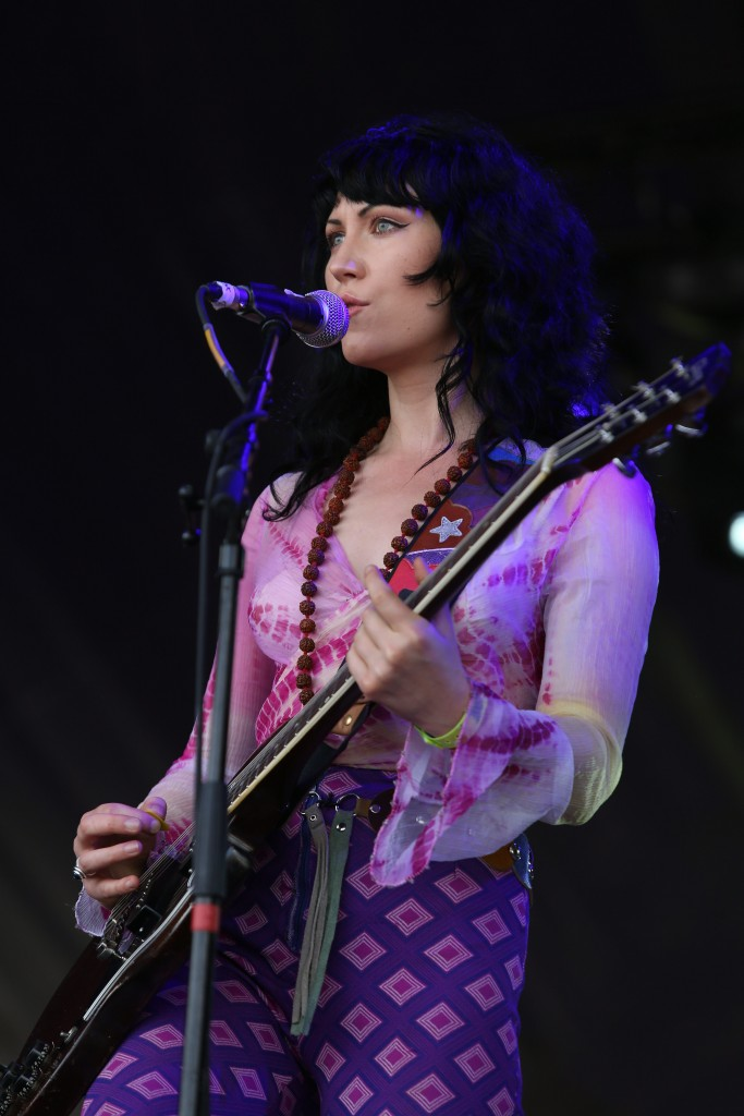 Purson singer Rosalie Cunningham - performs at Ramblin Man Fair at Mote Park on July 23, 2016 in Maidstone, England.