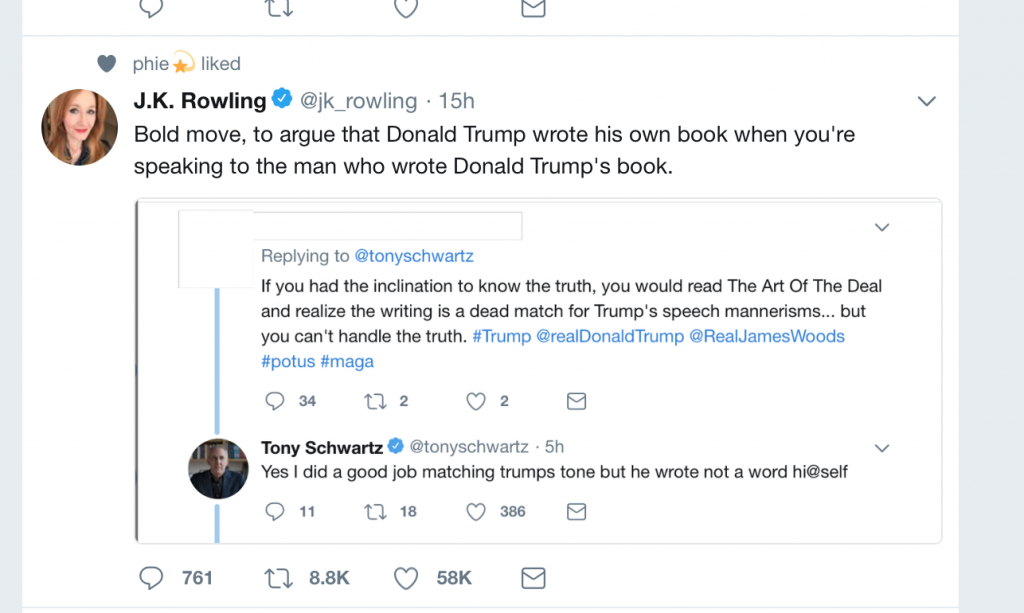 J.K. Rowling and trump