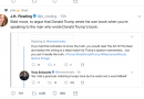 J.K. Rowling twitter post comment on Donald Trump Book