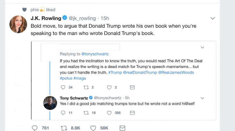 J.K. Rowling and trump